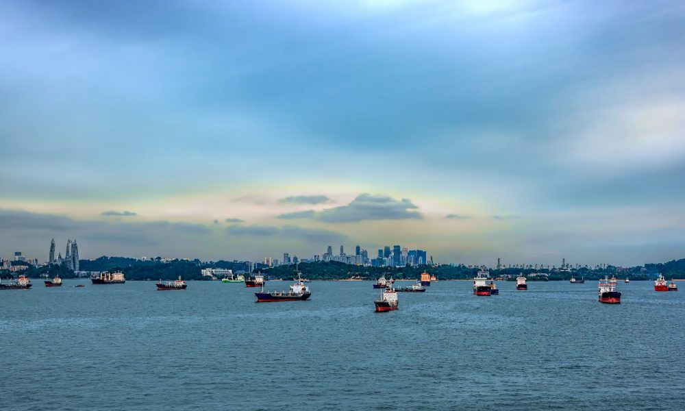 Navigation,In,The,Straits,Of,Singapore,Is,Highly,Congested,By