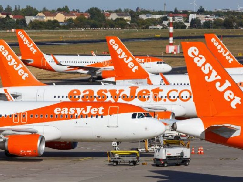 Berlin,,Germany,-,September,11,,2018:,Easyjet,Airbus,A320,Airplanes