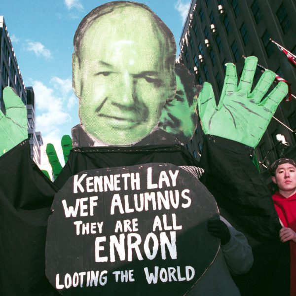 New,York,-,February,2:,Protesters,Hold,Up,An,Effigy